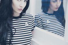Lazy Oaf x Casper @lazyoaf www.DollsKill/LazyOaf #DollsKill #lazyoaf #Casper #ghost #Halloween #stripeTEE