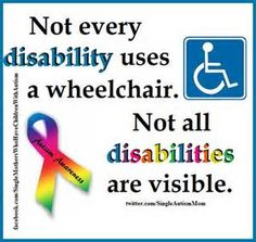 I have visible (cerebral palsy) and hidden (hydrocephalus) disabilities