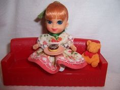 Liddle Kiddle Liddle Miss Muffet Doll Enjoying Her Donut | eBay just one of many I had and have today