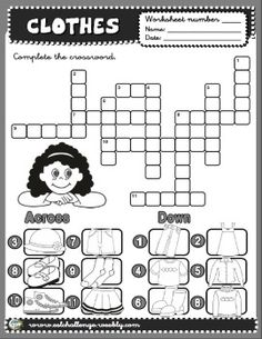 Clothes worksheet