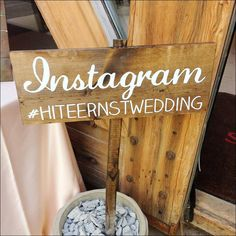 Instagram Wedding Sign, Wedding Wooden Sign - Instagram - WS-44 by SweetNCCollective on Etsy https://www.etsy.com/listing/165120543/instagram-wedding-sign-wedding-wooden