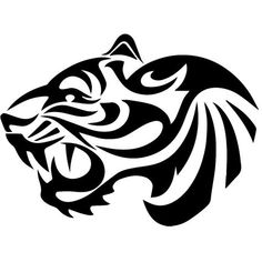 Tribal Tiger Custom Die Cut Vinyl Decal Sticker - Choose your Color and Size Tigre Tribal, Arte Tribal, Tribal Art, Tribal Tattoos, Tribal Tiger Tattoo, Tribal Drawings, Tiger Silhouette, Lion Flower, Tattoo Zeichnungen