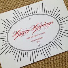 Starburst Christmas Printable Card designcorral.com