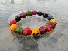 Skull Bracelet by BeaderBubbe on Etsy