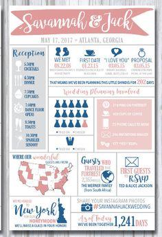 Infographic Wedding Program printable by ElizabethDavisDesign