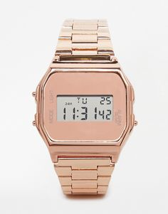New Look - Montre digitale - Nude et or rose