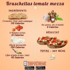 Calorie Intake, Calorie Diet, Sixpack Training, New Recipes, Healthy Recipes, Summer Diet, Cheese Ingredients, Tomato And Cheese, Calorie Counter