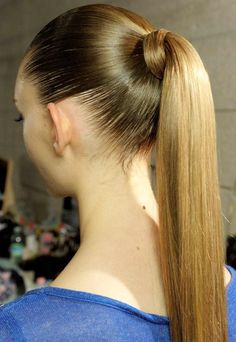 Pony slicked smoothed - a must for the runway, the freeway, the ball, the prom, the everyday....