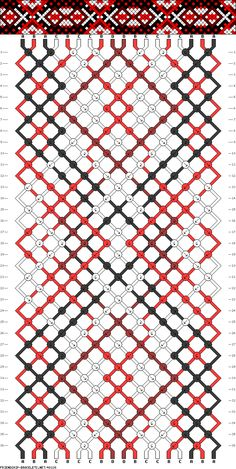 tribal stripe X cross friendship bracelet pattern - four 4 color DIY
