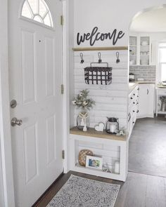 40 best small entryway decor & design ideas to upgrade space 40 - Eingang Flur Design, Small Entryways, Entry Way Design, Foyer Decorating, Decorating Ideas, Small House Decorating, Decorating Bathrooms, Decorating Kitchen, Interior Decorating