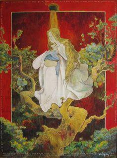 """Bernardo CRESPIN : """"Como un recuerdo de mi amor a Santa Maria de la Luz"""" ; 1986 ; 137cm x 102cm ; oleo sobre tela ; colección MDAA (adquirido de la galería Humberto Saravia)"""