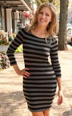 Alice + Olivia Air Crew Neck Stripe Dress | Silkworm Boutique