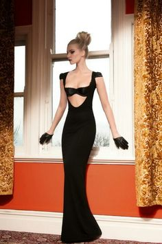 black sexy gown