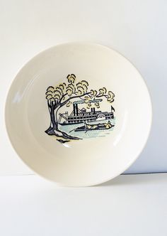 Set of 6 Mid Century Riverboat Bowls, Mississippi Plantation, Stetson Marcrest, American Heritage