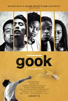 High resolution official theatrical movie poster for Gook Image dimensions: 2025 x Directed by Justin Chon. Starring Justin Chon, Simone Baker, David So, Curtiss Cook Jr. Films Hd, Hd Movies, Movies To Watch, Movies Online, Movie Tv, 2017 Movies, Streaming Hd, Streaming Movies, Rodney King