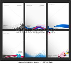 Set Of Business Style Templates, Vector Illustration - 109381946 : Shutterstock