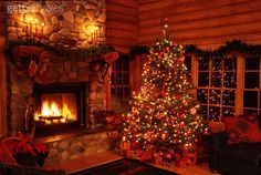 My living room at Christmas... on a larger scale than real life.