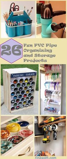 26 Clever PVC Pipe Organizing and Storage Projects to Simplify Your Life – Garage Organization DIY Diy Storage, Diy Organization, Storage Ideas, Homemade Storage, Organizing Life, Power Tool Storage, Blogger Home, Car Accessories Diy, Drawer Dividers
