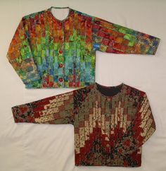 Bargello jackets. I bet you would get a lot of admiring comments from quilters.