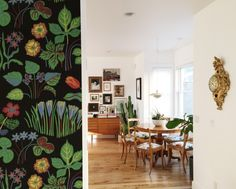 A Colorful Home in Utah | A Cup of Jo (Josef Frank wallpaper on stair wall)