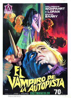 """MP412. """"El vampiro de la autopista"""" (""""The Horrible Sexy Vampire"""") Spanish poster by Jano (José Luis Madrid 1970)"""