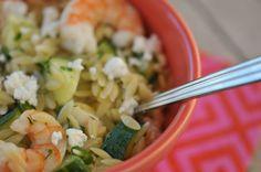 Roasted Shrimp & Orzo...I added tomatoes, so good!