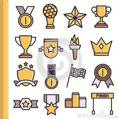 Flat Award Icons - Download From Over 43 Million High Quality Stock Photos, Images, Vectors. Sign up for FREE today. Image: 70655919