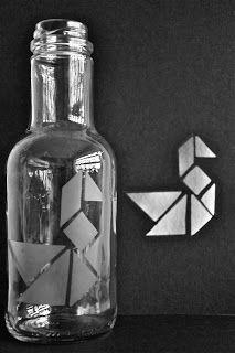 Tangram vase.