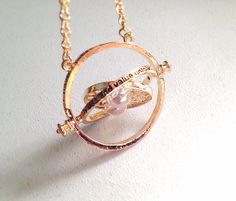 Hermione's Time Turner Necklace. Hourglass Pendant. by MintMarbles, $24.00