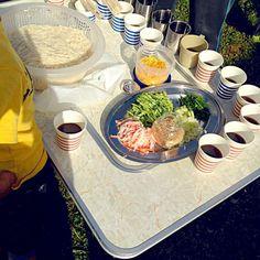 外で食べる素麺は、紙コップでも美味しいです(•ө•)♡ - 63件のもぐもぐ - キャンプの朝はお素麺♡♡♡ by hidemi820ar33