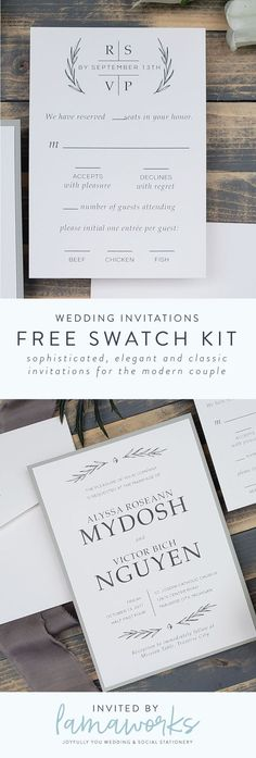 Your wedding is natural and elegant with rustic touches. You're dreaming of greenery and ferns and a lush, romantic atmosphere. Set the stage for your wedding day with an invitation that is sophisticated and beautiful. Customize this design to make it u Trendy Wedding, Unique Weddings, Elegant Wedding, Rustic Weddings, Gold Weddings, Burgundy Wedding, Formal Wedding, Boho Wedding, Summer Wedding