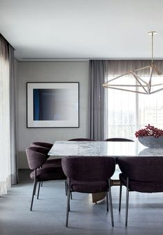 Modern Dining Room Ideas – Modern style design has clean lines and curves, without clutter. The modern wall colors are […] Dining Room Design, Dining Room Table, Motif Art Deco, Dinner Room, Beautiful Dining Rooms, Luxury Decor, Dining Furniture, Unique Furniture, Room Decor