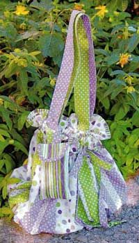 The Ellie Bag Pattern - drawstring bag with matching cell phone case