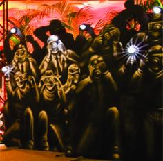 painel mdf com luz fotografos