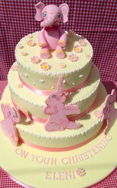Baby pink elephants x Cupcake Cakes, Cupcakes, Hand Painted Cakes, Cake Baby, Pink Elephant, Elephants, Christening, Lady, Desserts