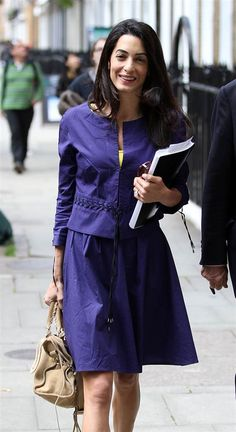 May 15, 2014: Amal Alamuddin, George Clooney's fiancee, is seen carrying on with her day to day life despite being engaged to the most eligible bachel...