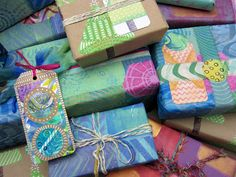 Printing with Gelli Arts®: giftwrap
