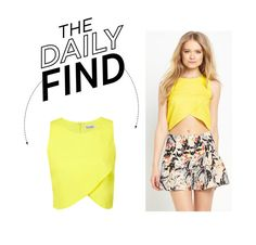 """""""Daily Find: Miss Selfridge Wrap Front Top"""" by polyvore-editorial ❤ liked on Polyvore"""