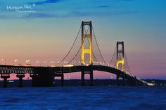 Sunset at Mackinac Bridge - St. Ignace Michigan