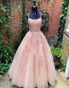 Pink tulle lace long prom dress, pink tulle lace evening dress · HotProm · Online Store Powered · Sweet Lady · Online Store Powered by Storenvy Source by sartotfdyqj prom Dresses Prom Dress Black, Prom Dresses Long Pink, Straps Prom Dresses, Pretty Prom Dresses, Ball Gowns Prom, Lace Evening Dresses, Ball Dresses, Dress Long, Elegant Dresses