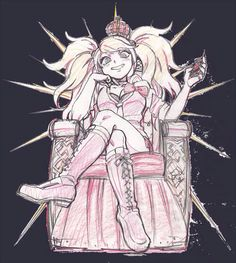 Junko atop her throne of despair