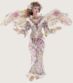 Fantasia de una PrinCesa: Bonitas imagenes de Christine Haworth Seraph Angel, Josephine Wall, Beautiful Fairies, Painted Rocks, Illustrators, Aurora Sleeping Beauty, Fairy, Disney Princess, Artist