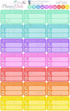 Dentist Appointment Planner Stickers  Limelife  Erin Condren