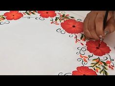 Beautiful & Creative Fabric Painting Design | Latest Hand Painted Designer Yoke Kurti / Gathered Top - YouTube Clay Crafts For Kids, Arts And Crafts, Metallic Colors, Acrylic Colors, Hand Embroidery Designs, Embroidery Patterns, Fabric Colour Painting, Cross Stitch Bookmarks, Mural Art