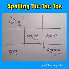 This is one of my favourite spelling activities. Most students already know how to play the traditional version of Tic Tac Toe so it's an easy one to introduce to classes. They can play on paper or...