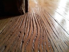 Cleaning With A Steam Mop, Animals Scratching At Floor. This Picture Is  After Sanding And The First Coat Of Sealer.