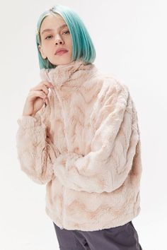 UO Eva Cozy Faux Fur Jacket | Urban Outfitters Cute Lounge Outfits, Urban Shop, Fake Fur, Faux Fur Jacket, Clothing Items, Fitness Models, Urban Outfitters, Winter Jackets, Cozy
