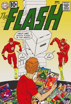 Flash of Two Worlds, New 52 style Flash Comic Book, Dc Comic Books, Comic Book Covers, Comic Art, Flash Comics, Children's Comics, Flash Tv Series, Flash Wallpaper, Ride The Lightning