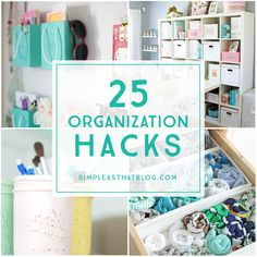 Keep your life organized this year with some great organization hacks for every part of your life!
