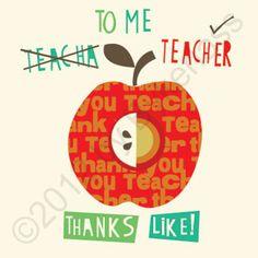 """Geordie Mugs Teacher card www.geordiemugs.co.uk £2.20 Free Postage """"To Me Teacher Thanks Like"""" MADE IN UK! www.wotmalike.co.uk creators of Geordie Gifts, Geordie Mugs and Cards 4 Geordies and 2 those who get choked up seeing the Tyne Bridge."""
